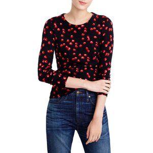 J. Crew Tippi Merino Wool Cherry Print Sweater